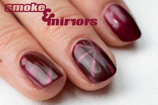 magnetic nails closeup